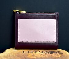Fossil Womens Shelby Mini Clutch Leather Wallet Purse Burgundy Pink