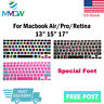 Font Design Silicone Keyboard Cover Skin For Macbook Pro Air Retina 13 15 17