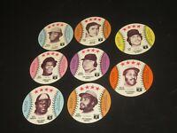1976 Baseball cards Round Discs MLBPA Logo Carew Stargell Lynn Murcer Fuentes