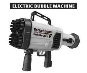 Hot Electric Bubble Gun Machine Soap Bubbles for Children Summer outdoor toys