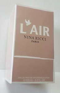 NINA RICCI L'AIR Eau de Parfum 100ml SPRAY ( SEALED BOXED ) RARE****************