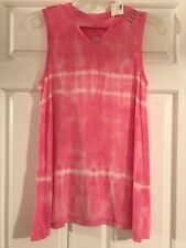 Nwt Girls Justice Size 18/20 Pink Tie Dye Tank Top