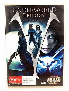 Underworld Trilogy DVD Rise of Lycans Evolution Region 4 Free Postage