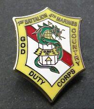 US MARINE CORPS 1st BATTALION 4th MARINES LAPEL PIN BADGE 1 INCH