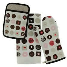 New listing Nwt Kate Spade All In Good Taste Chocolates 3-Piece Kitchen Set Mitts Towel