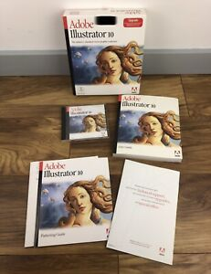 Adobe Illustrator 10 UPGRADE Complete - For Macintosh With Serial Key Boxed