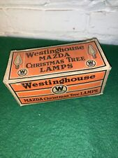 Vintage Mazda Christmas Tree Lamps Westinghouse Electric Original Box Of Ten