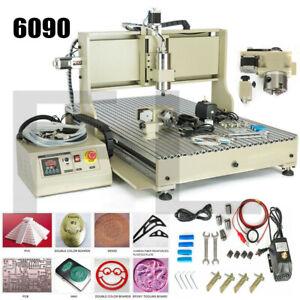 4 Axis USB CNC 6090 Router Engraving Machine Milling Cutting Machine 2200W DE