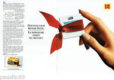 PUBLICITE ADVERTISING 125  1993  KODAK  film  echtachrome élite diapo  (2p)