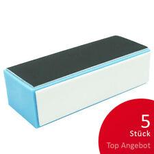 5 Polierblöcke 4-seitig  blau Hochglanz Polier Block Nails TOP ANGEBOT