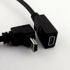 Mini B 5Pin Male 90 Degree Down Angle to Female USB Extension Data Adapter Cable