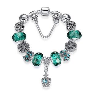 Charm Bracelet Silver Plated Beads Gift Of Love GENUIN DIY(6)