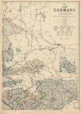 Deutschland Nordosten. Sachsen Weimar Altenburg Anhalt. JW Lowry. Versand 1863 Karte