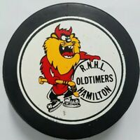 RNHL OLD TIMERS HAMILTON VINTAGE VICEROY HOCKEY PUCK MADE IN CANADA