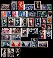 L'ANNÉE 1951 Complète, Neufs * = Cote 90 € / Lot Timbres France n°878 à 918