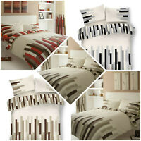 Luxury Blocks Style Quilt Duvet Covers Reversible Single Double King Bedding Set