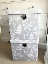 Next Grey Floral Storage Boxes Set Of 2