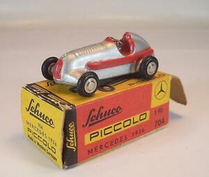 Schuco Piccolo 1/90 No.704 Mercedes 1936 Silberpfeil in O-Box #7029
