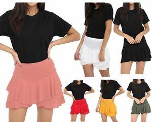 Women's Skirts High Waisted Elasticated Pleated Ladies Shorts Mini Tennis Skirt
