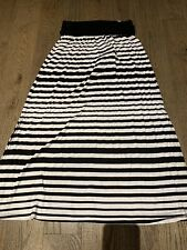 NWT Justice Black & White Long Skirt  Size 12 Fall Winter Fun Holidays