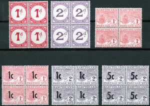 Basutoland 1952-61 QEII selection of early Postage Due mint blocks MNH