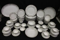 Service for 12 - 96 Pc Mikasa China TILDEN Gray Scroll Pattern #5506, Japan (141