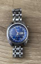 Vintage Seiko Watch Automatic Chronograph Blue Dial 6139-6015 Wristwatch