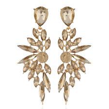 1Pair Elegant Women Crystal Ear Stud Rhinestone Drop Dangle Earrings Jewelry