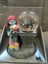 Nightmare Before Christmas Sally Black Cat Light Up Musical Water Globe NEW!!