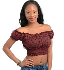 S Peasant GYPSY BOHO TRIBAL Gothic Pirate Hippie Belly Dancing Dance Choli Top