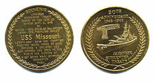 1965 USS MISSOURI commemorative COIN 20th anniversary of the end WW II  39mm