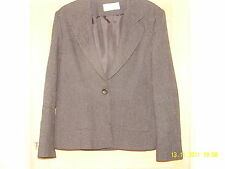 AMARANTO SINGLE BREASTED LINED BLACK MIX JACKET PATCH POCKETS TO FRONT SIZE 16