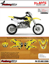2003-2010 SUZUKI RM 65 DRZ 110 Motocross Graphics Dirt Bike Graphics Kit ! FLAME