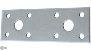 Lochplatten Flachverbinder Lochplatte 100 x 35 x 2,5 mm Silber Verzinkt 4 Stück