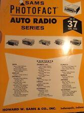 Sams Photofact-Auto Radio Manual/#AR-37 First Edition June 1966