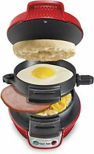Kitchen Hamilton Beach Breakfast Sandwich Maker Red 25476 Egg Dining Appliance