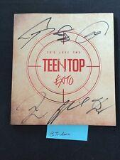 TEENTOP Exito Album Autographed Signed Teen Top KPOP Mwave NO Photo Card