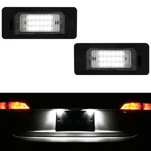 ECLAIRAGE PLAQUE LED BMW SERIE 5 E60 FEUX ARRIERES IMMATRICULATION BLANC XENON