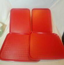 Rubbermaid Cafeteria Picnic Tray set of 4 Red 9431