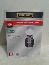 New Defiant Security Flood Light Black LED Motion Sensing Battery Power Outdoor