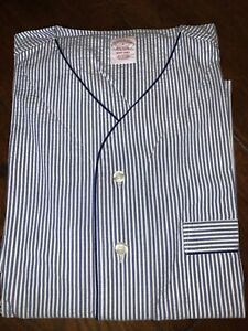 Brooks Brothers Blue/ White Striped Nightshirt BRAND NEW RRP £89 SMALL, Cotton