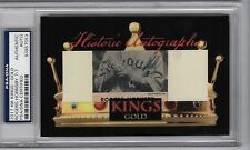 ROGERS HORNSBY 2017 HISTORIC AUTOGRAPHS HA KINGS GOLD CUT AUTO SIGNATURE PSA 7/7
