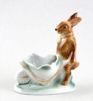 9942194-ds Porcelain Figurine Rabbit Pushes Cart Easter Wagner & Apel H11cm