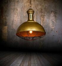 Lampada vintage in gabbia da soffitto in stile Industriale di design Boccato Oro
