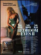 BEDROOM EYES II__Original 1989 Trade print AD promo__LINDA BLAIR__KATHY SHOWER_2