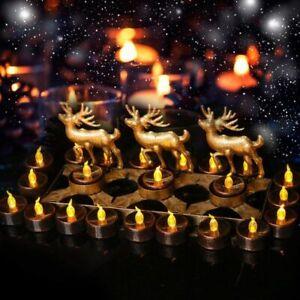 12pcs Lights LED Candle Shape Flameless Tea Lights Fireless Plastic TZ