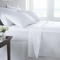 "Egyptian Cotton 400 TC Extra Deep 16""/40cm Deep Fitted Sheet or Flat Sheet"