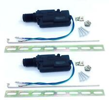2X SLIM FIT UNIVERSAL DOOR LOCK ACTUATOR 2 WIRE LOCK UNLOCK SHALLOW/ DLA05F