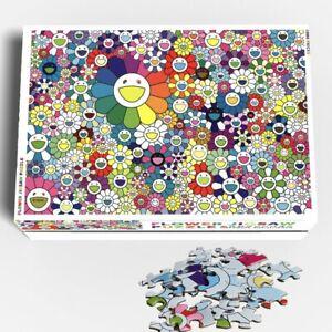Rare TAKASHI MURAKAMI Flower Jigsaw Puzzle Kaikai Kiki Zingaro 1000 Pieces