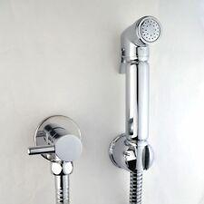 Chrome Muslim Shataff Bidet Douche Shower Toilet Spray Chromed Brass Kit Head